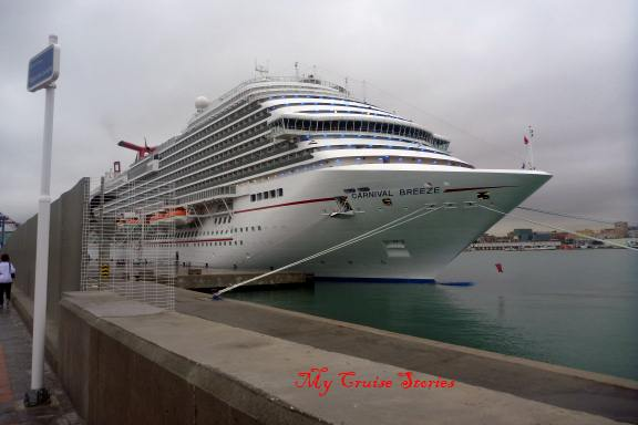 Carnival Breeze docked in Spain