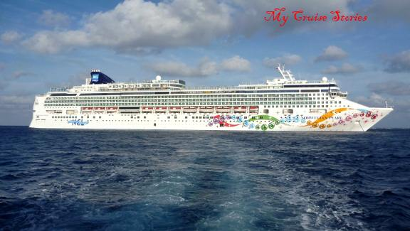 cruise ship at anchor, Georgetown Grand Cayman