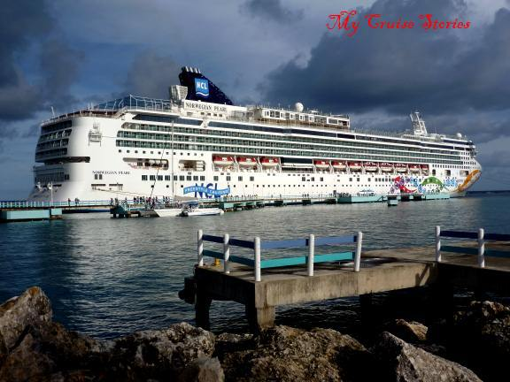 cuise ship docked in Jamaica