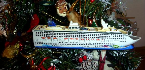 cruise ship Christmas ornament