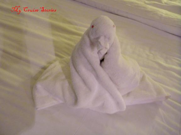 penguin made by Norwegian Pearl stateroom steward