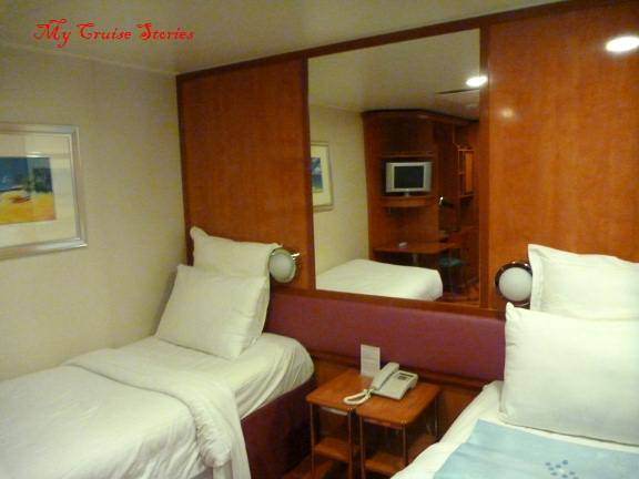 cruise ship standard inside room