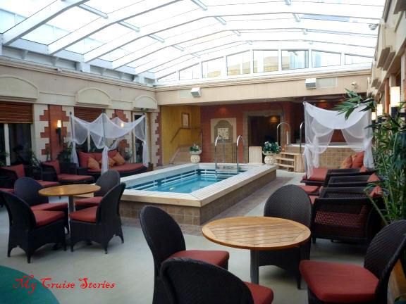 private pool area for suite guests