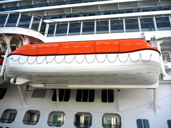 lifeboat on cruise ship