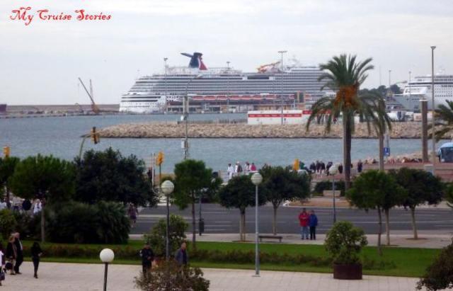 cruise ships in Majorca, Spain