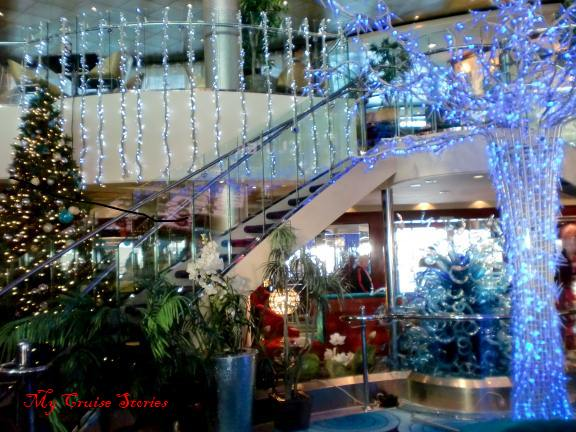 atrium on norwegian pearl - When Do Cruise Ships Decorated For Christmas