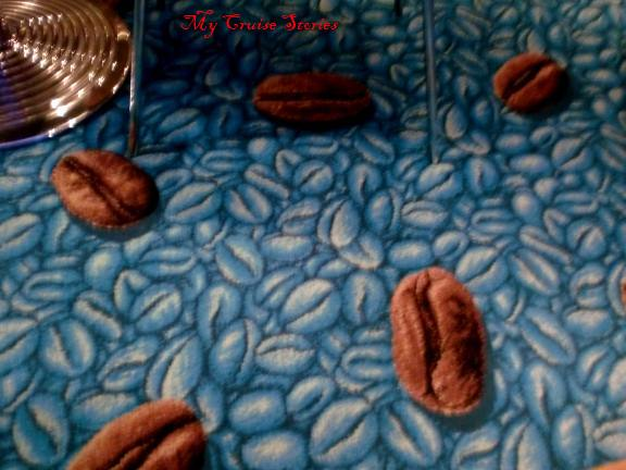 coffee beans on the carpet - no they are the carpet