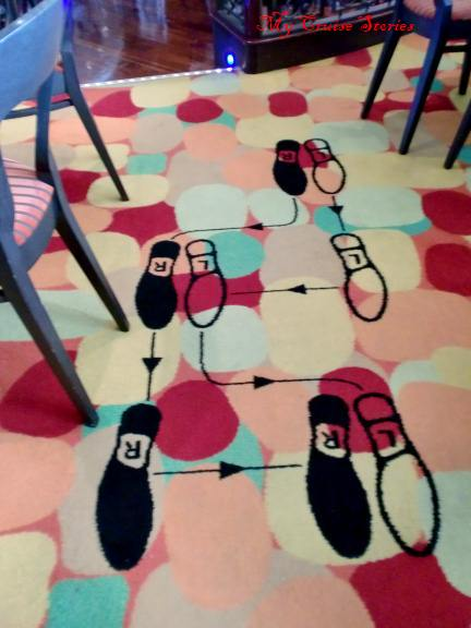 whimsical cruise ship carpet