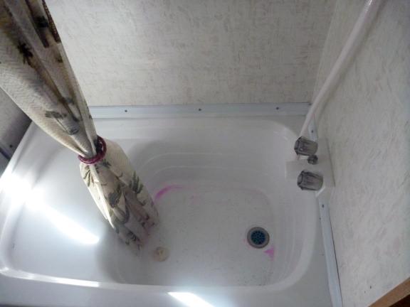 bathtub in a camper van