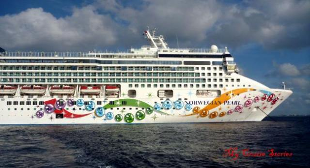 paint job on Norwegian Pearl