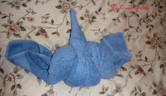 folding a towel bird