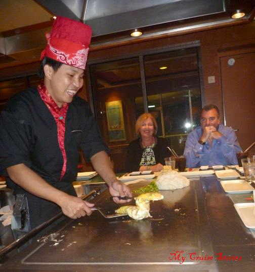 at Teppanyaki dinner is the show
