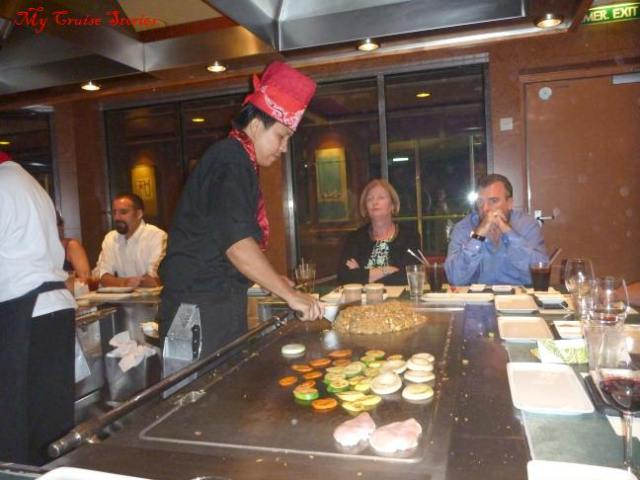 Teppanyaki on Norwegian Pearl