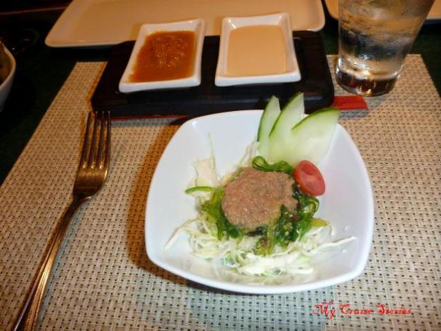 salad course at Teppanyaki
