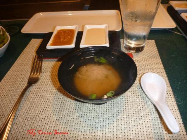 soup course at Teppanyaki