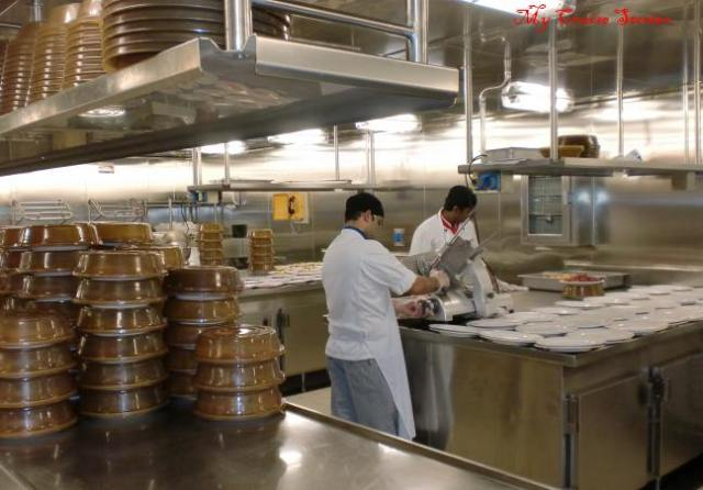 galley workers on Carnival Breeze