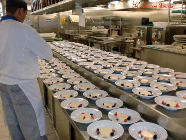 working in a cruise ship galley