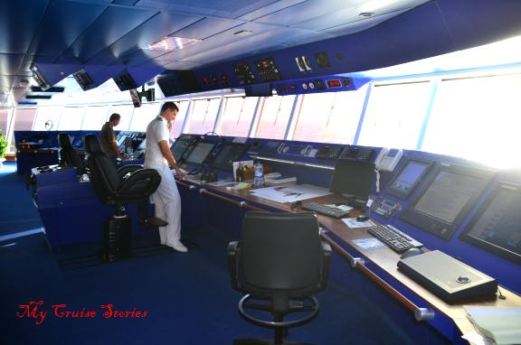 cruise ship bridge crew
