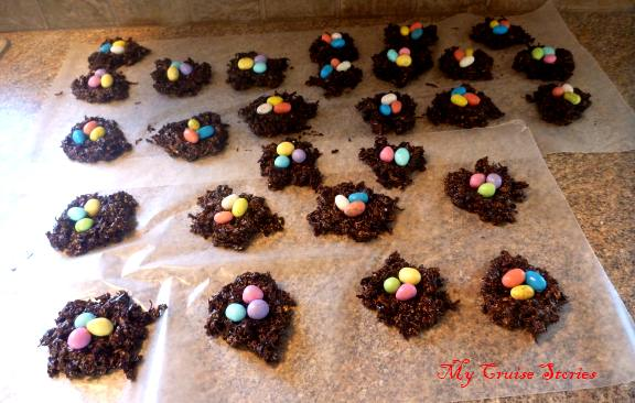 cookies all decked out with candy eggs