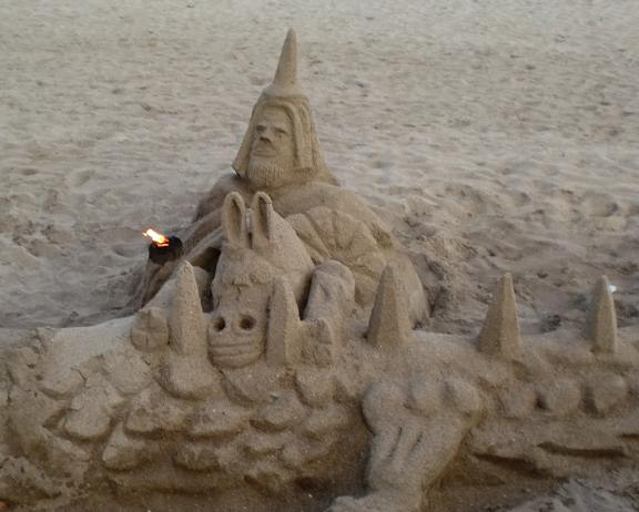 sandcastle in Barcelona