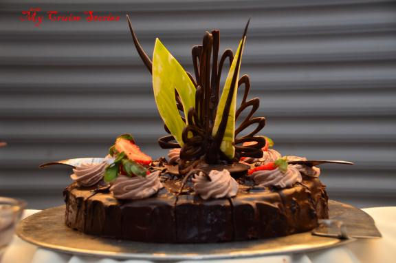 chocoholic buffet cake