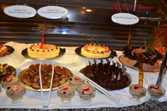 sugar free goodies at Norwegian Pearl chocoholic buffet