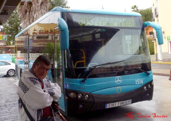 city bus in Spain