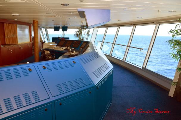 another very blue cruise ship bridge