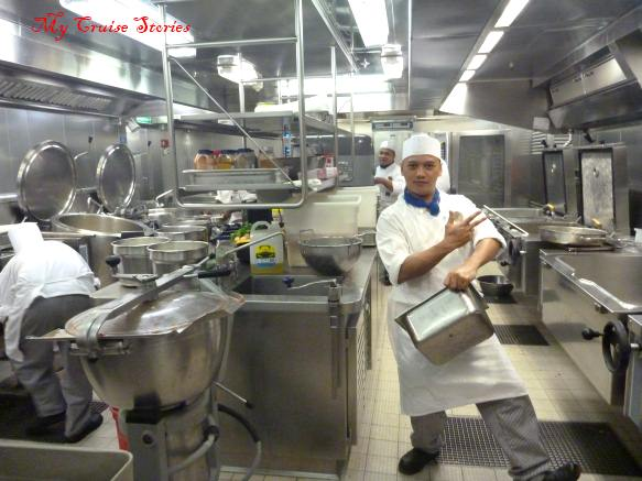 galley on Norwegian Pearl