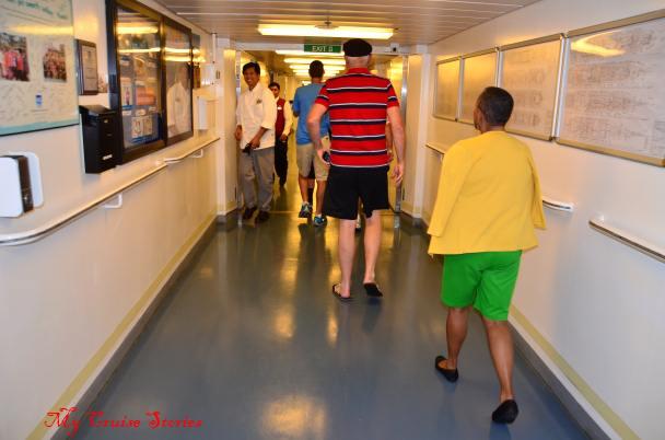 cruise ship crew corridor