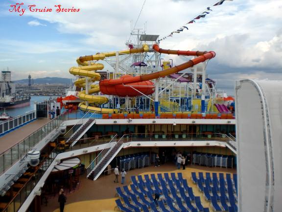 cruise ship water park and waterslides