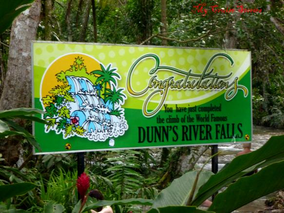 the end of the climb at Dunn's River Falls