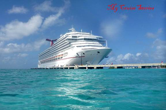 Carnival cruise ship docked at Grand Turk