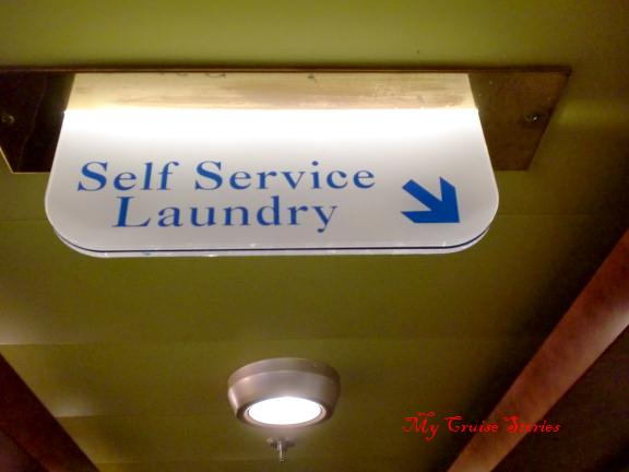 self serve laundry on a cruise ship