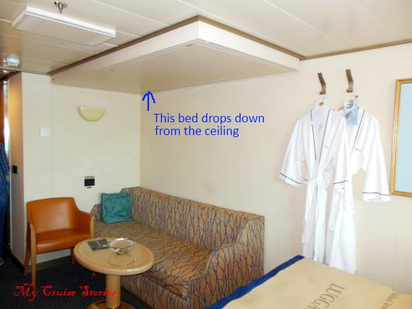 stateroom with drop bunk