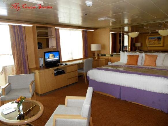 deluxe suite on a ship