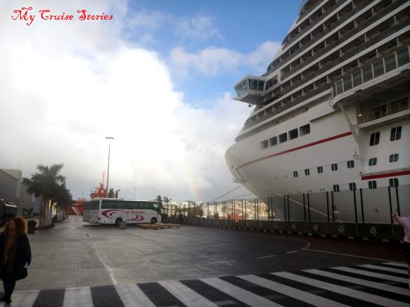 cruise ship docked in Las Palmas