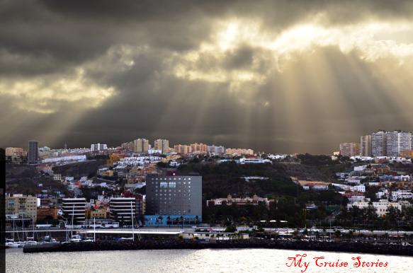 Las Palmas on Grand Canary Island in a storm