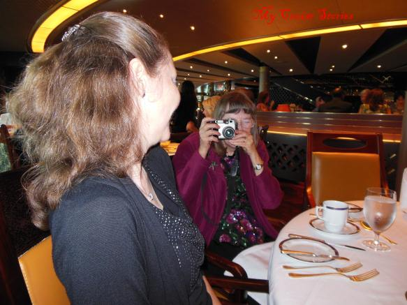 What do families do when they get together at dinner....take photos!