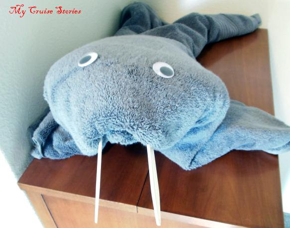 how to fold a towel walrus