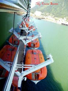 lifeboats on Holland America Westerdam