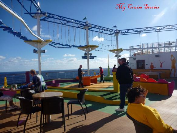 Carnival Breeze mini golf and ropes course