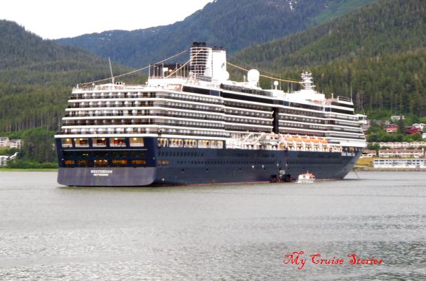 cruise ship at anchor, Juneau Alaska
