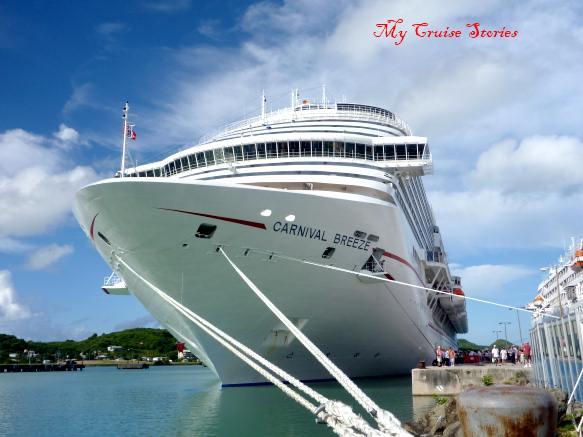 cruise ship docked in paradise