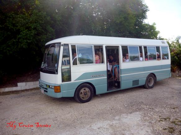 bus for shore excursion in Antigua
