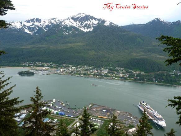 looking down on Juneau