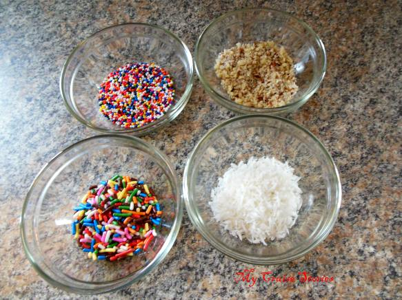 toppings to roll homemade truffles in