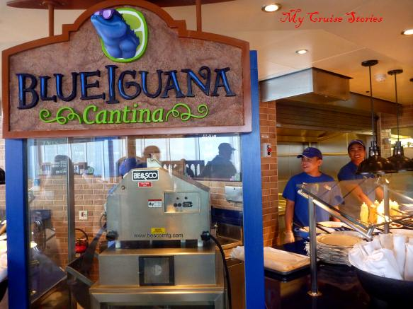 Blue Iguana Cantina on the Carnival Breeze cruise ship