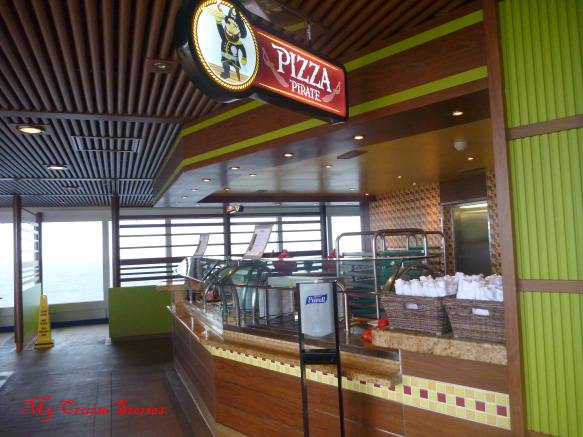 Pizza is always an option for lunch or dinner on Carnival Breeze