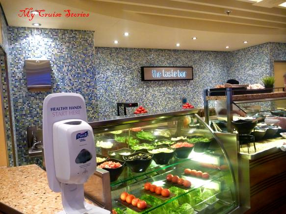 Food on the carnival breeze cruise ship cruise stories for Food bar hands